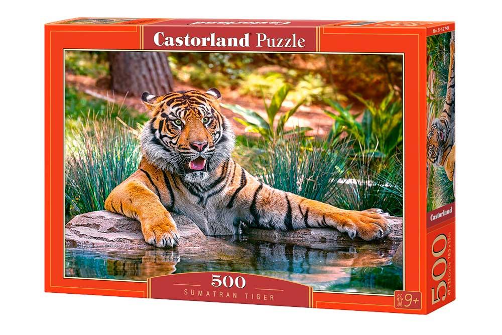 Puzzle Castorland Tigre de Sumatra 500 Piezas