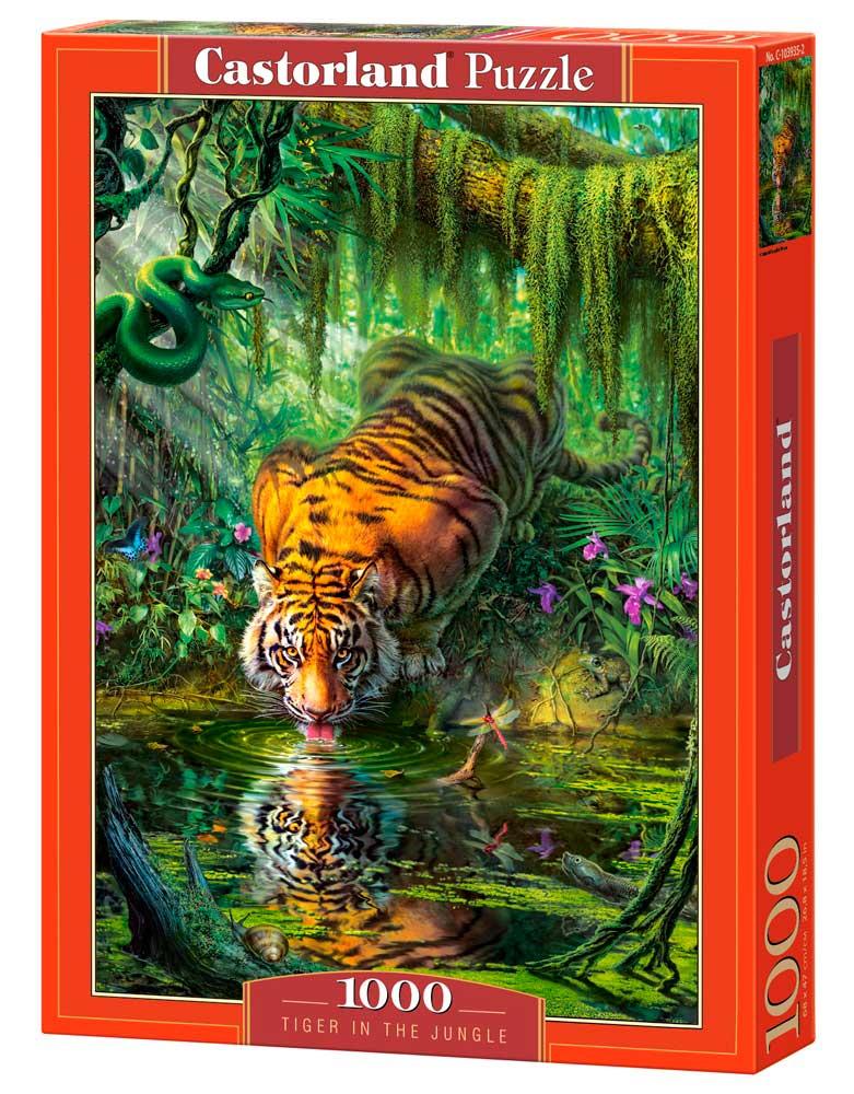 Puzzle Castorland Tigre en la Jungla de 1000 Piezas