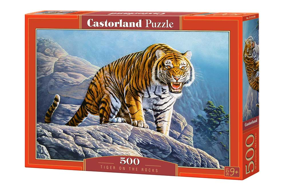 Puzzle Castorland Tigre en las Rocas de 500 Piezas