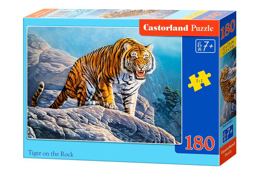 Puzzle Castorland Tigre en las Rocas de 180 Piezas