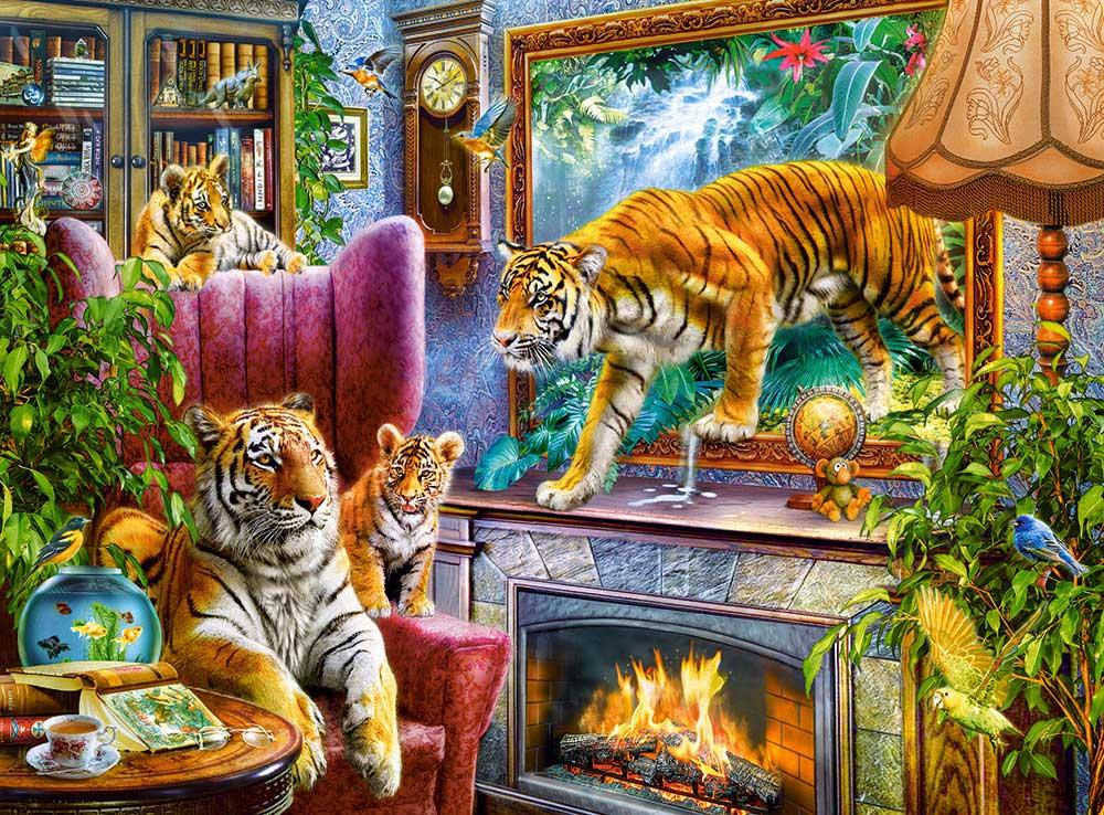 Puzzle Castorland Tigres Volviendo a la Vida de 3000 Piezas