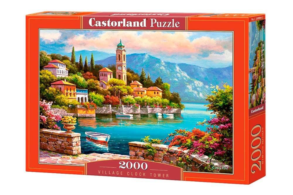 Puzzle Castorland Torre del Reloj en el Pueblo de 2000 Piezas