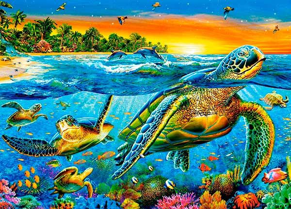 Puzzle Castorland Tortugas Bajo el Agua de 180 Piezas