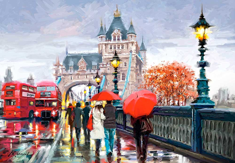 Puzzles Castorland Tower Bridge, Londres de 1500 Piezas