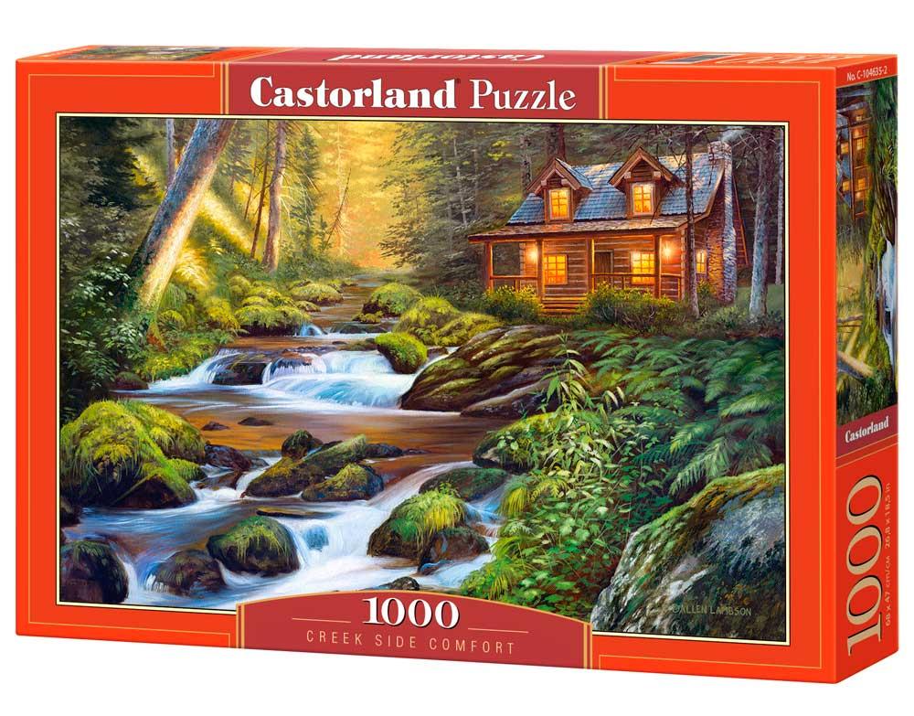 Puzzle Castorland Tranquilidad Junto al Arroyo de 1000 Piezas