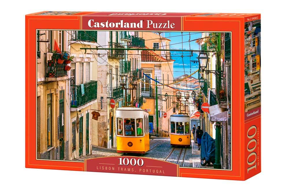 Puzzle Castorland Tranvías de Lisboa, Portugal de 1000 Piezas