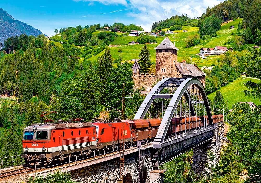 Puzzle Castorland Tren en el Puente de 500 Piezas