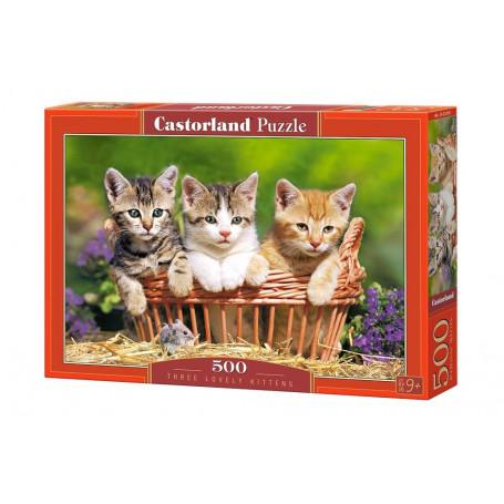 Puzzle Castorland  Tres Adorables Gatitos de 500 Piezas