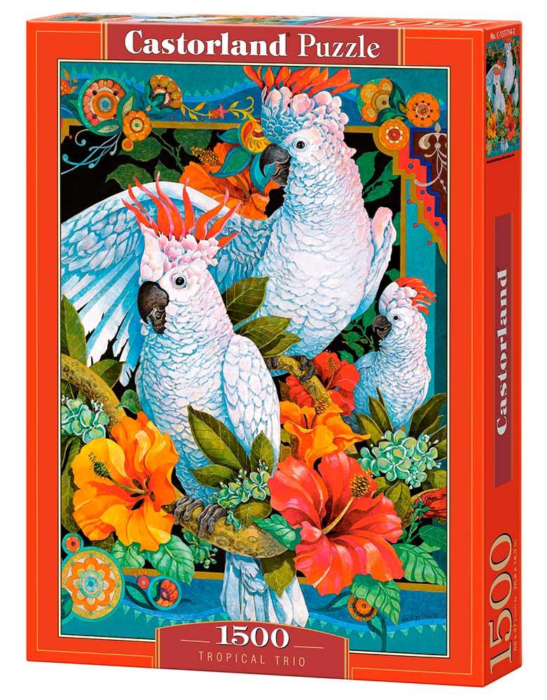 Puzzle Castorland Trío Tropical de 1500 Piezas