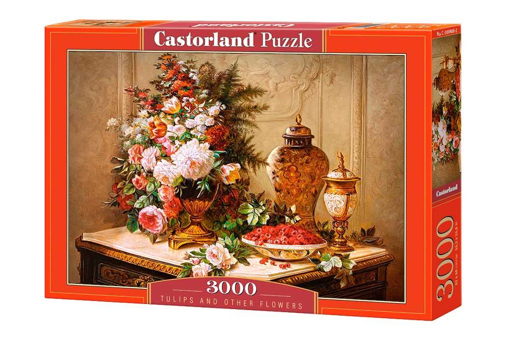 Puzzle Castorland Tulipanes y Otras Flores de 3000 Piezas
