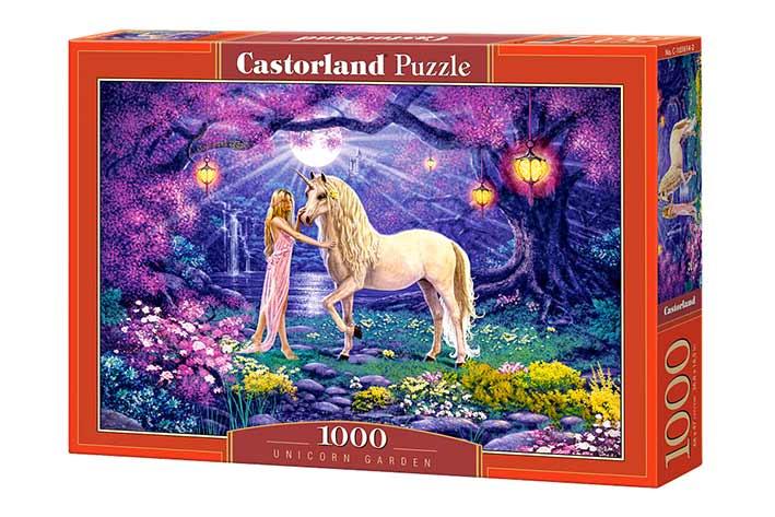 Puzzle Castorland Unicornio en el Jardín de 1000 Piezas