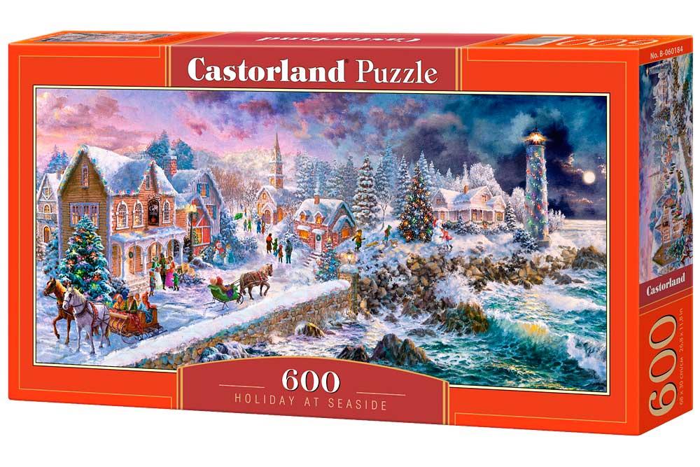 Puzzle Castorland Vacaciones Navideñas Junto al Mar 600 Piezas