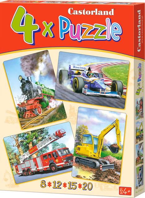 Puzzle Castorland VehículosProgresivo 8+12+15+20