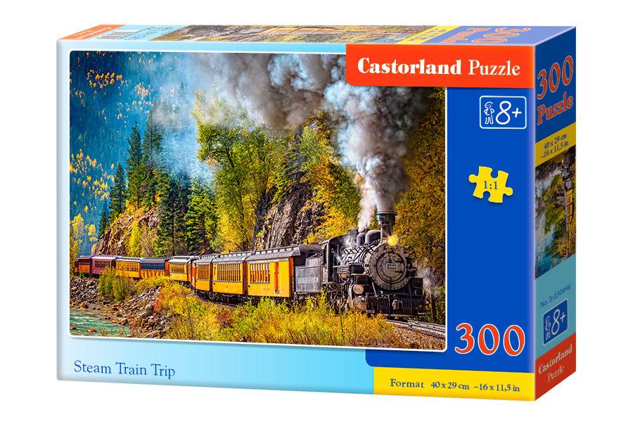 Puzzle Castorland Viaje en Tren a Vapor de 300 Piezas