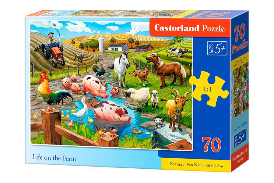 Puzzle Castorland Vida en la Granja de 70 Piezas
