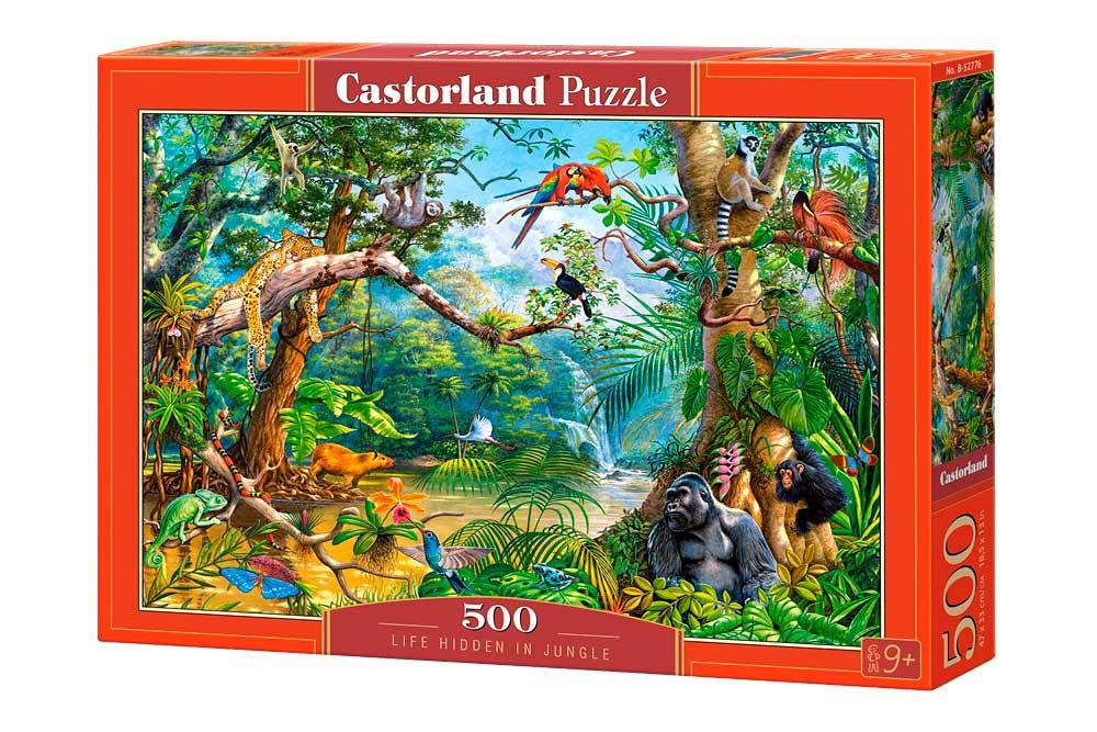 Puzzle Castorland Vida Oculta en la Jungla 500 Piezas