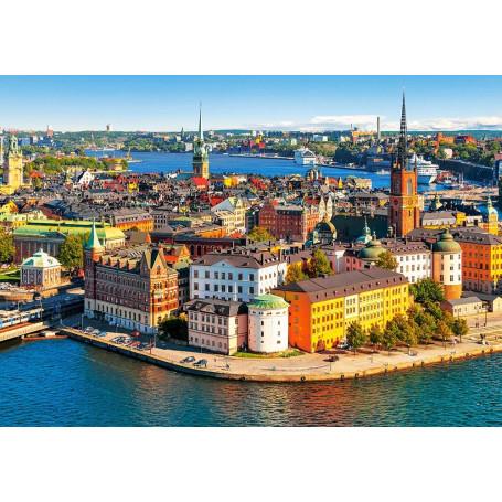 Puzzle Castorland Viejo Pueblo de Estocolmo, Suecia de 500 Pieza