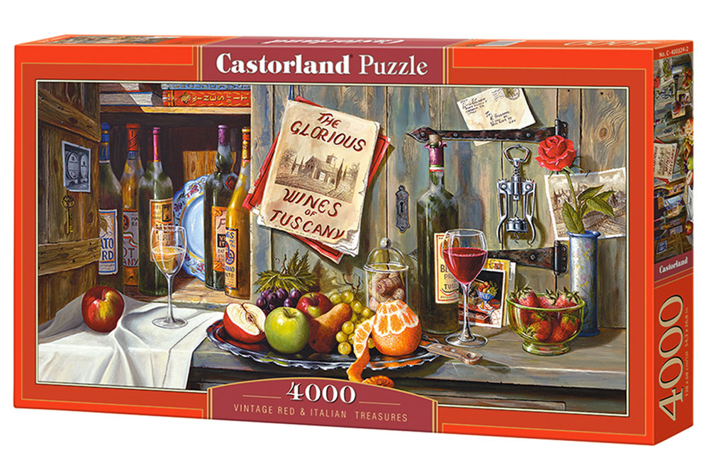 Puzzle Castorland Vinos y Tesoros Italianos Vintage de 4000 Pzs