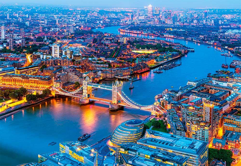 Puzzle Castorland Vista Aérea de Londres de 1000 Piezas