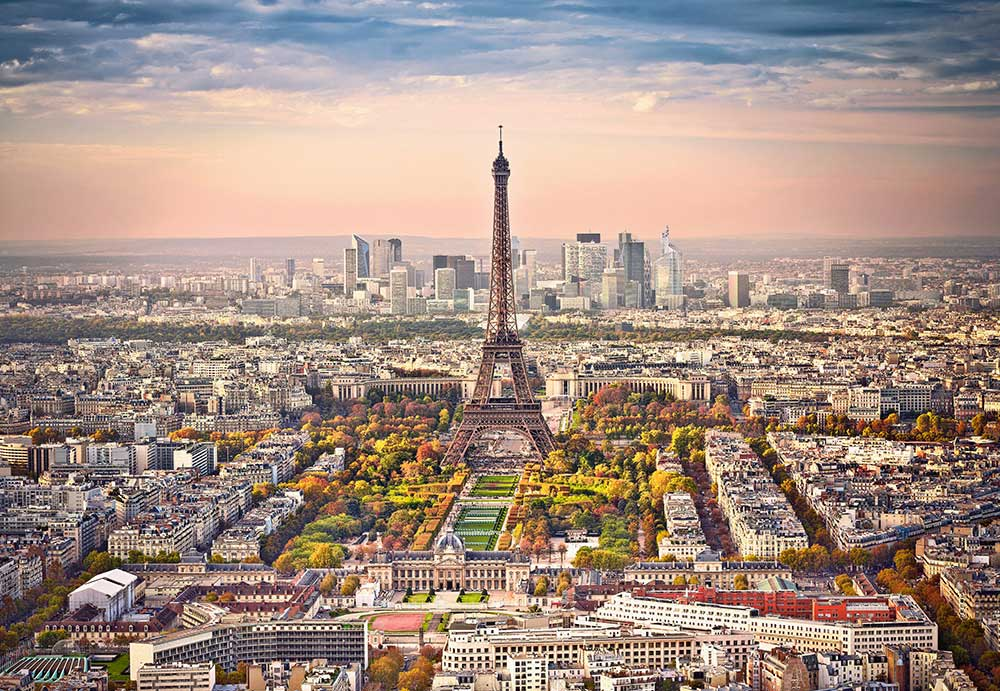 Puzzle Castorland Vista Aérea de París de 1500 Piezas