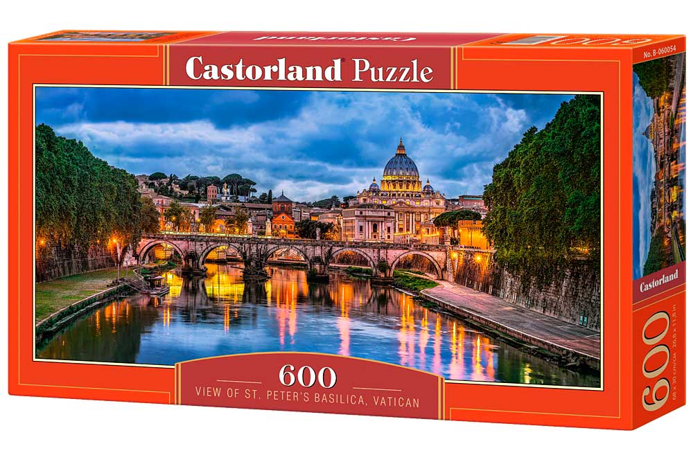 Puzzle Castorland Vista de Basílica de San Pedro de 600 Piezas