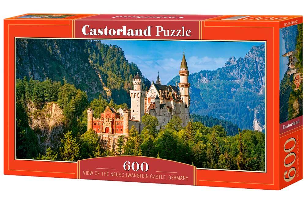 Puzzle Castorland Vista de Castillo Neuschwanstein de 600 Piezas