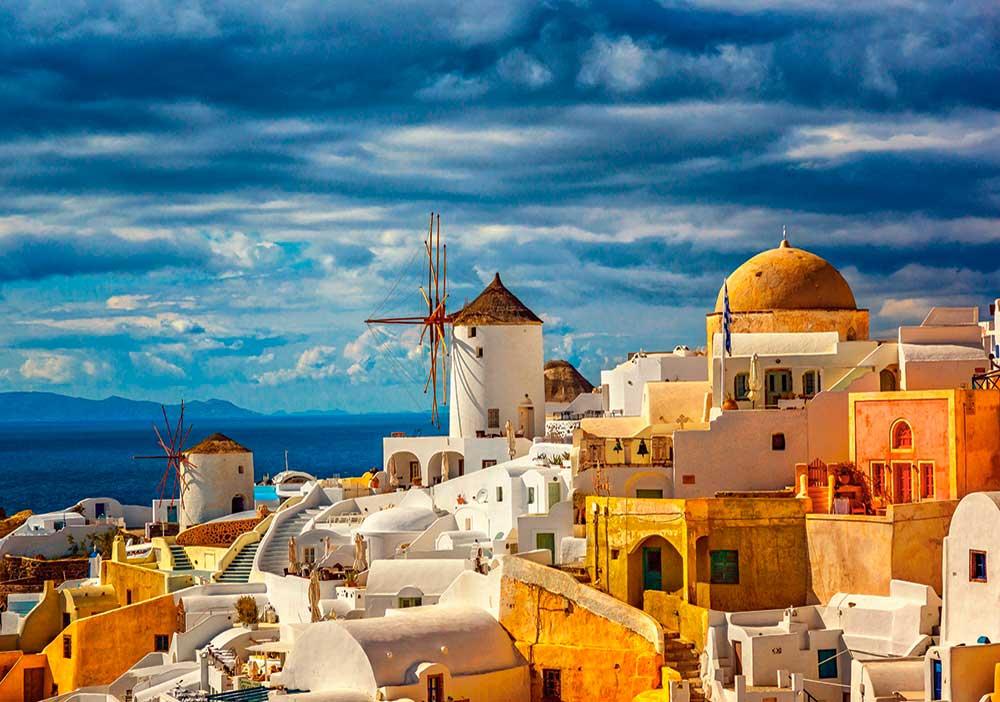 Puzzle Castorland Vista de Oia Santorini de 500 Piezas