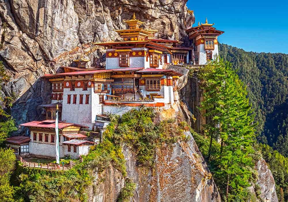 Puzzle Castorland Vista de Paro Taktsang, Bután de 500 Piezas
