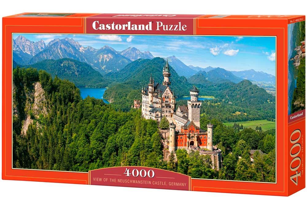 Puzzle Castorland Vista del Castillo de Neuschwanstein de 4000 P