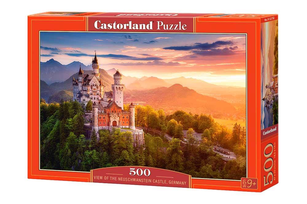 Puzzle Castorland Vista del Castillo Neuschwanstein 500 Piezas