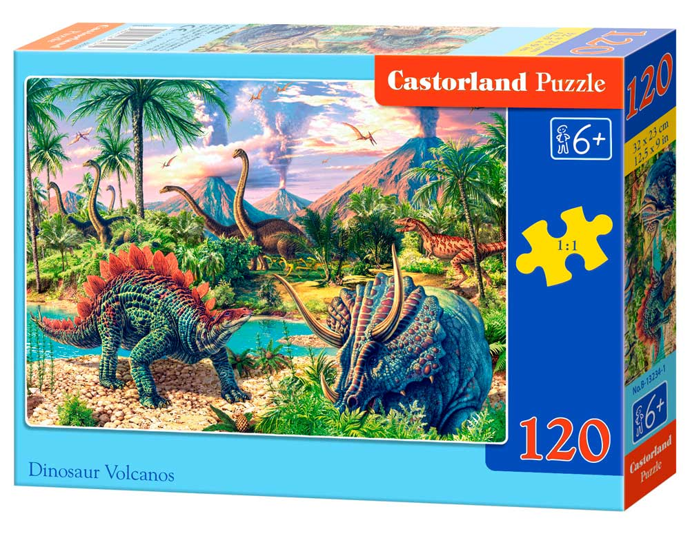 Puzzle Castorland Volcanes y Dinosaurios de 120 Piezas