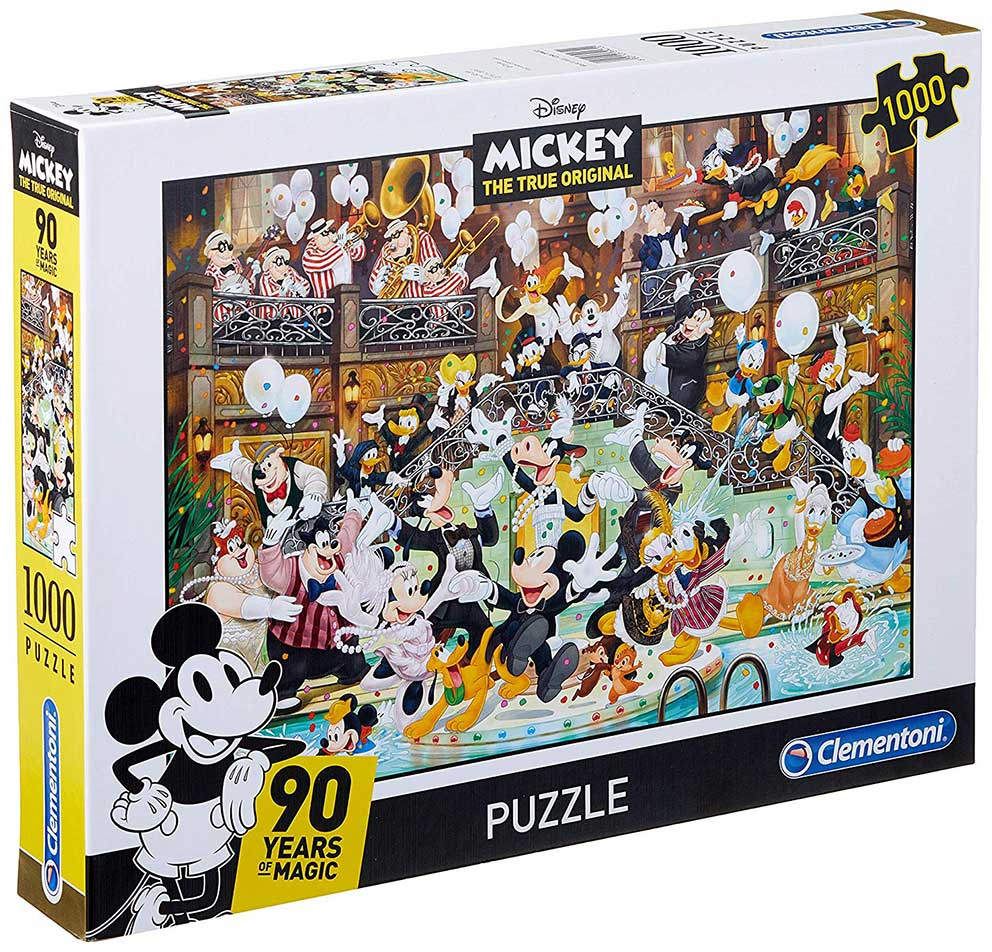 Puzzle Clementoni 90 Aniversario de Mickey Mouse de 1000 Piezas