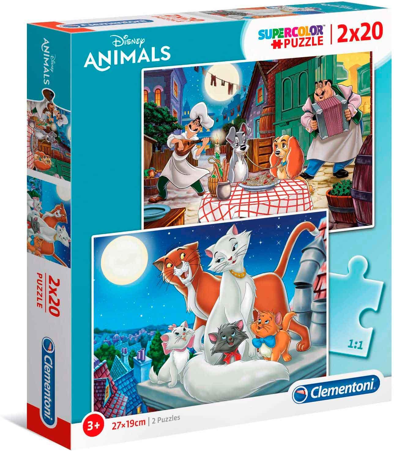Puzzle Clementoni Amigos Animales de 2 x 20 Piezas