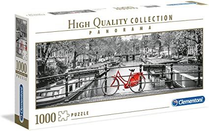 Puzzle Clementoni Bicicleta en Ámsterdam Panorama de 1000 Pzs