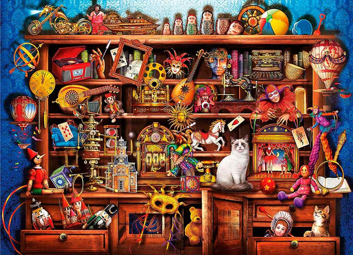Puzzle Clementoni Aparador de Fantasía de 1000 Piezas