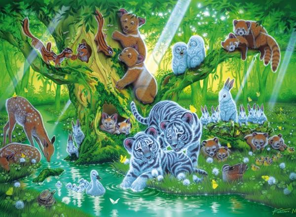 Puzzle Clementoni Árbol de Animales Fosforescente 1000 Piezas
