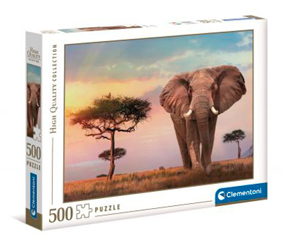 Puzzle Clementoni Atardecer Africano de 500 Piezas