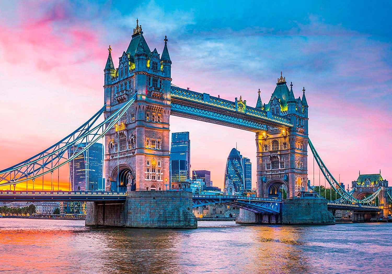 Puzzle Clementoni Atardecer en Tower Bridge de 1500 Piezas