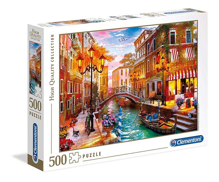 Puzzle Clementoni Atardecer en Venecia de 500 Piezas