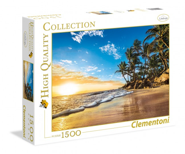 Puzzle Clementoni Atardecer Tropical de 1500 Piezas