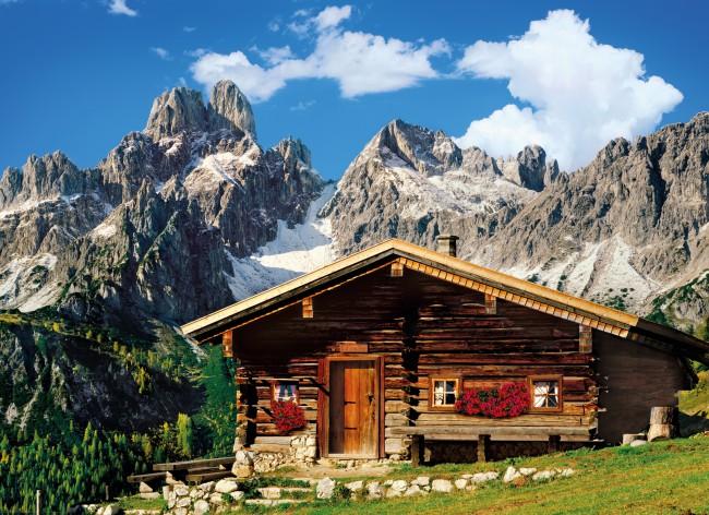 Puzzle Clementoni Austria, Refugio de Montaña de 1000 Piezas