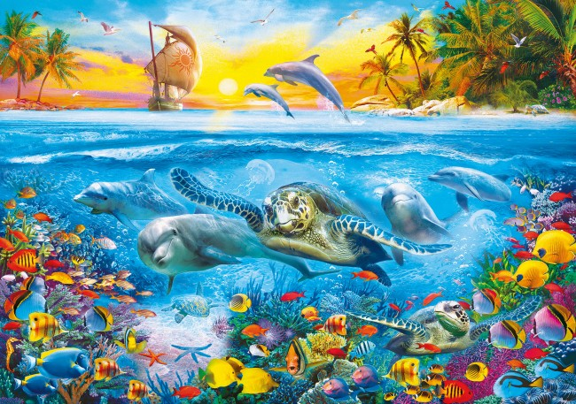 Puzzles Clementoni Bajo el Mar de 6000 Piezas