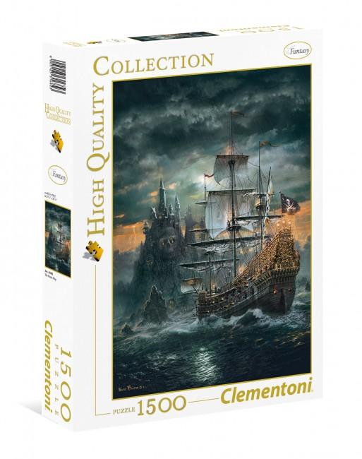 Puzzle Clementoni Barco Pirata de 1500 Piezas