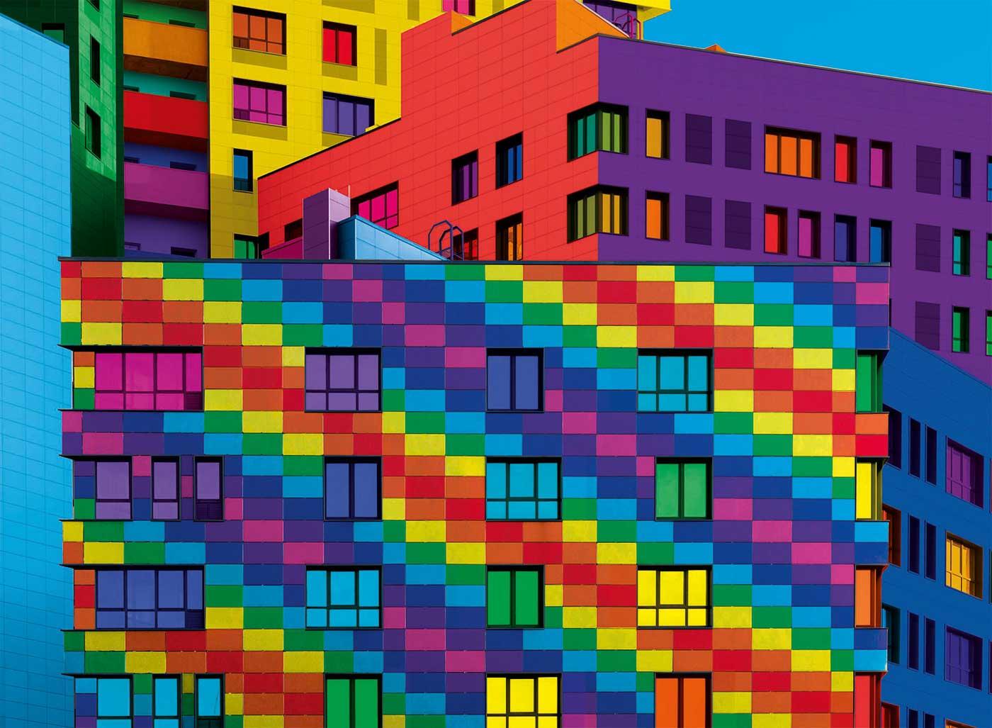 Puzzle Clementoni Bloques Colorboom de 500 Piezas