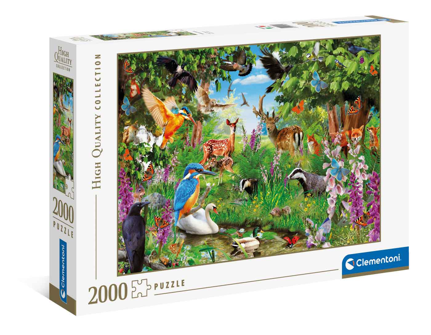 Puzzle Clementoni Bosque Fantástico de 2000 Piezas