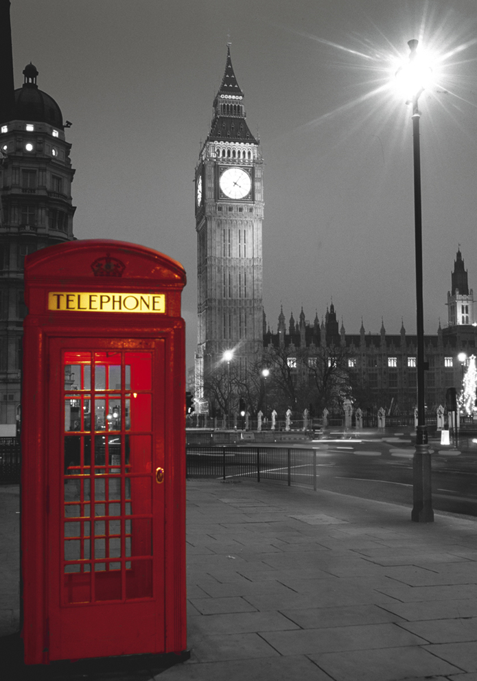 Puzzle Clementoni Cabina Telefónica, Londres de 500 Piezas