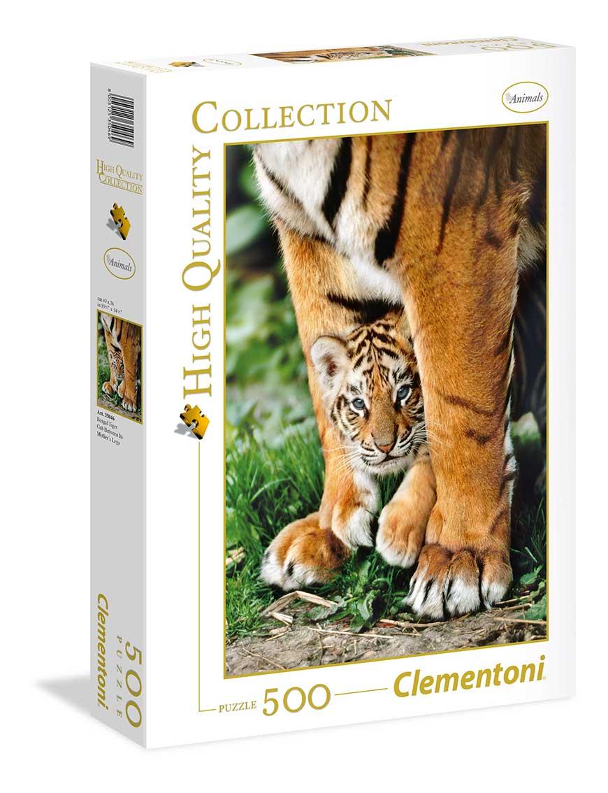 Puzzle Clementoni Cachorro de Tigre de Bengala de 500 Piezas