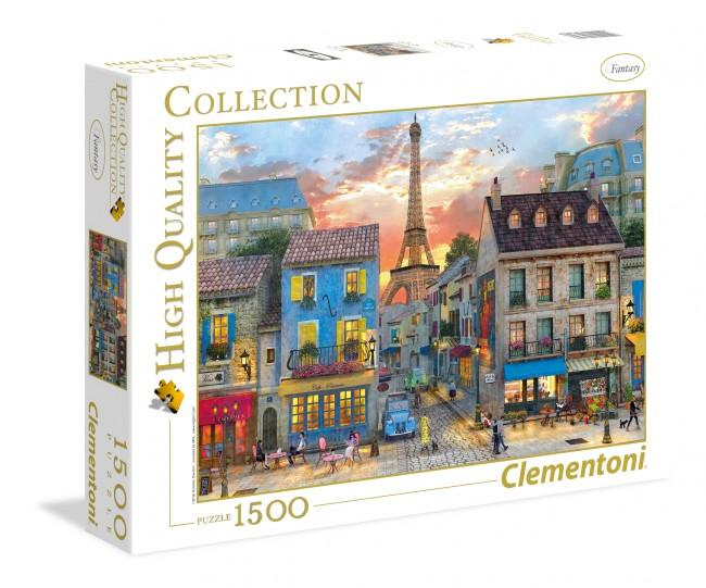 Puzzle Clementoni Calle de París de 1500 Piezas