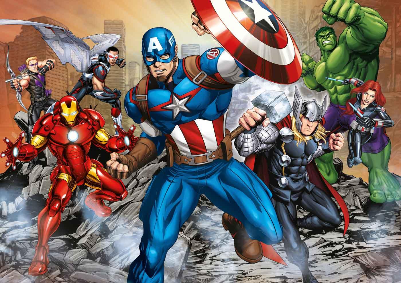 Puzzle Clementoni Capitán América y Vengadores Maxi 104 Piezas