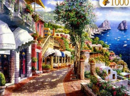 Puzzle Clementoni Capri, Italia de 1000 Piezas